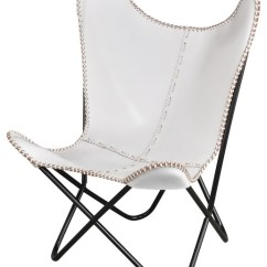 Airborne Butterfly Chair Outdoor Fire Pit And Chairs Contemporary Armchairs Accent By Leather White