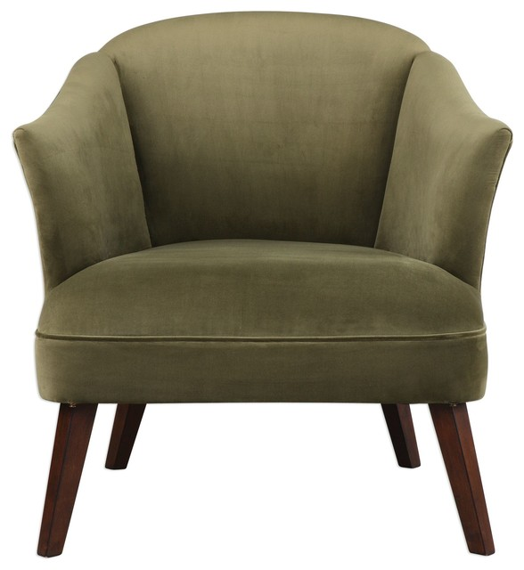 tub accent chair vintage sewing olive green midcentury modern velvet round barrel back armchairs and chairs by my swanky home