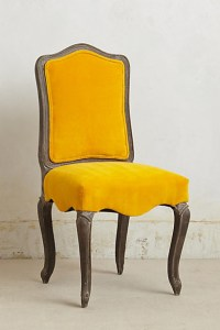 Velvet Beatrix Chair, Yellow - Contemporary - Dining Chairs