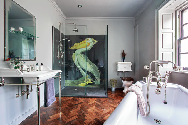 Drummonds Case Study: Shooting Lodge, Scotland eclectic-bathroom