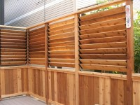 Small Deck Design with Louvered Fence - Craftsman ...