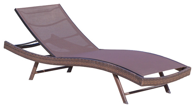 outdoor chaise lounge chairs with wheels office chair air cylinder denise austin home burnham brown mesh set of 2 tropical lounges by gdfstudio