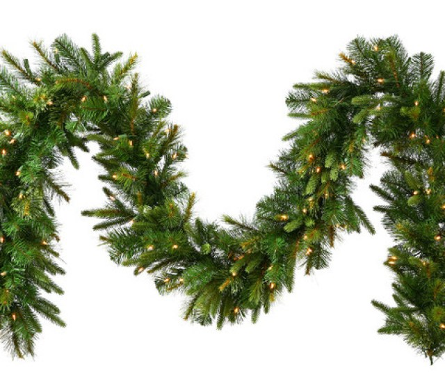 Pre Lit Mixed Cashmere Pine Artificial Christmas Garland