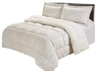 Ultra-Plush Sherpa Comforter & Shams King, Ivory - Modern ...