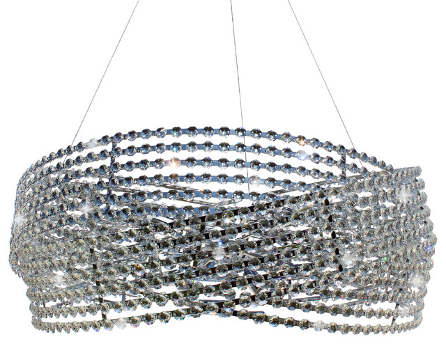 32 3 Ring Drum Crystal Chandelier Pendant Contemporary Chandeliers