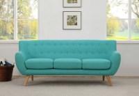 Sixties 3 Seater Sofa - Aqua