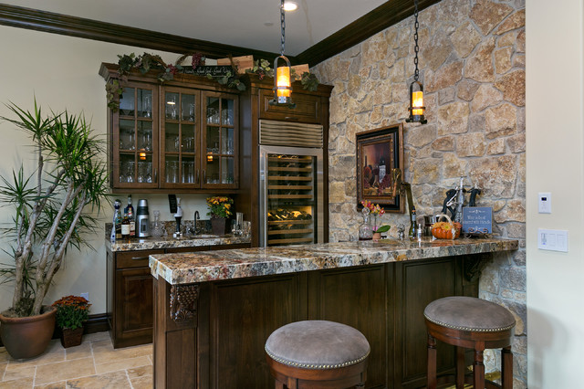 Del Sur Country House Wine Bar  Traditional  Home Bar  San Diego  by McCullough Design
