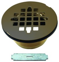 Brass Body Compression Shower Drain With Grid In Oil ...