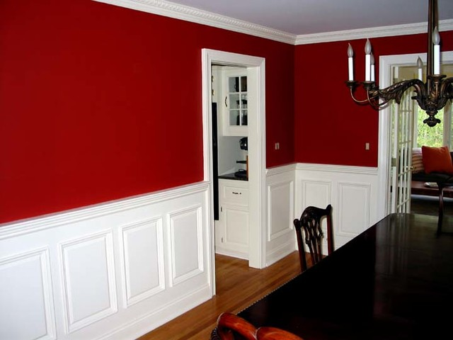 Raised Panel Wainscoting  Traditional  Dining Room  New