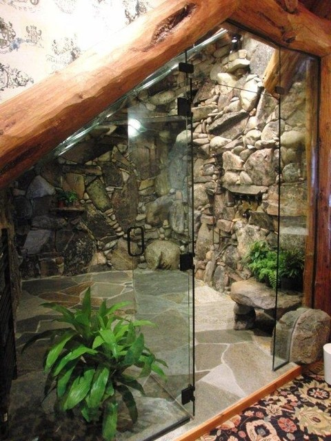 inside kitchen cabinet lighting outdoor kitchens sydney waterfall shower - tropical bathroom tampa by ...