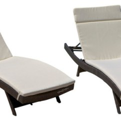 Outdoor Chaise Lounge Chairs With Wheels Chiavari Rental Lakeport Adjustable Cushion Set Of 2