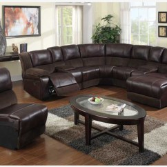 3 Piece Microfiber Sectional Sofa With Chaise Bed For Cheap - F Brown Leather Reclining ...