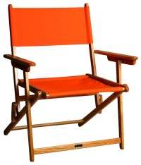 Oak Portsmouth Director Chair in Orange - Contemporary ...