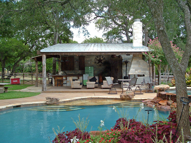 living room furniture dallas tx blue and white walls frisco cabana - rustic pool by key residential