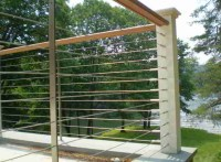 Deck, patio, porch, balcony cable railing - Modern - Deck ...
