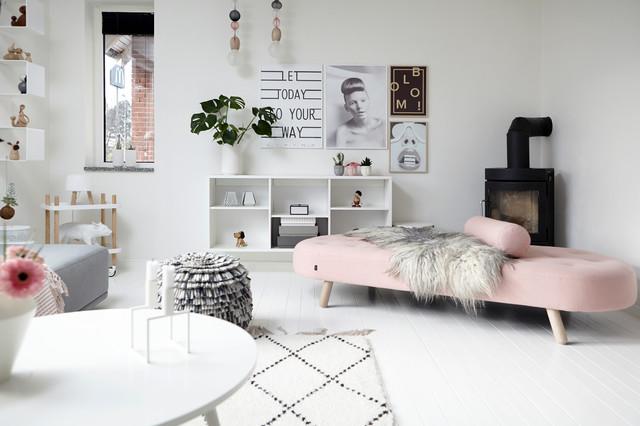 My Houzz A Blush Pink White And Grey Scandi House Houzz Uk