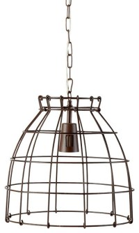 Pendant Cage Lamp - Contemporary - Outdoor Hanging Lights ...