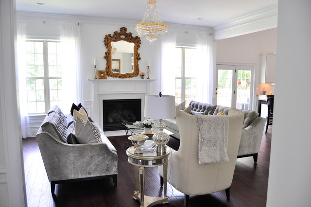 Hollywood Regency Residence Contemporary Living Room