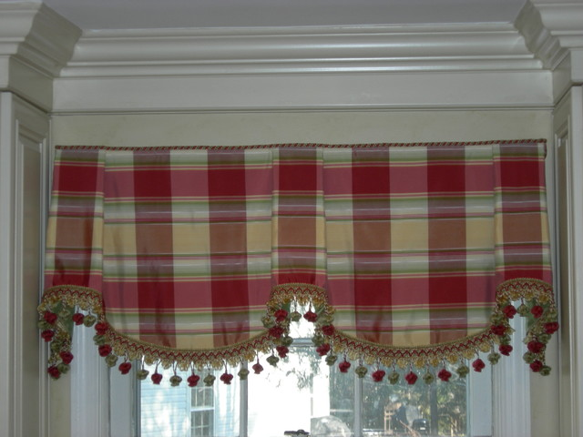 where can i buy a kitchen table portable sink silk sheffield valance - traditional