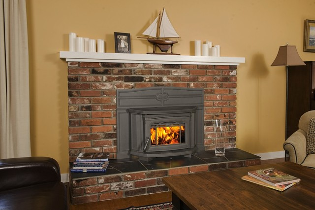 Pacific Energy Alderlea T5 Series 24 x 21 Wood Burning Insert Fireplace  Modern  Indoor