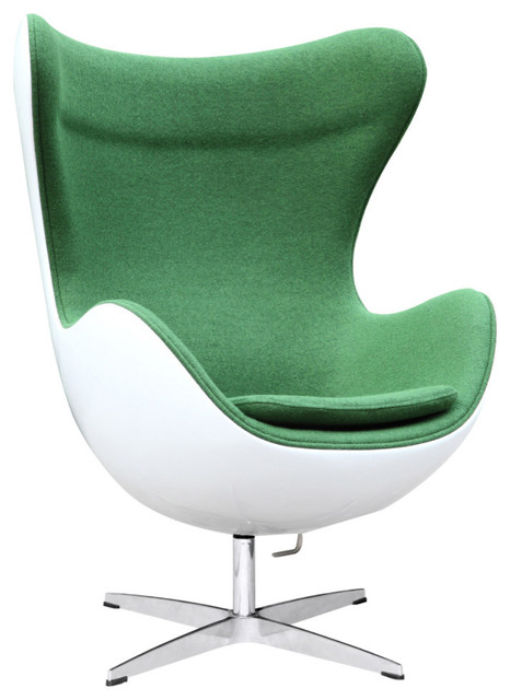 Fiesta Fiberglass Chair In Wool, Green