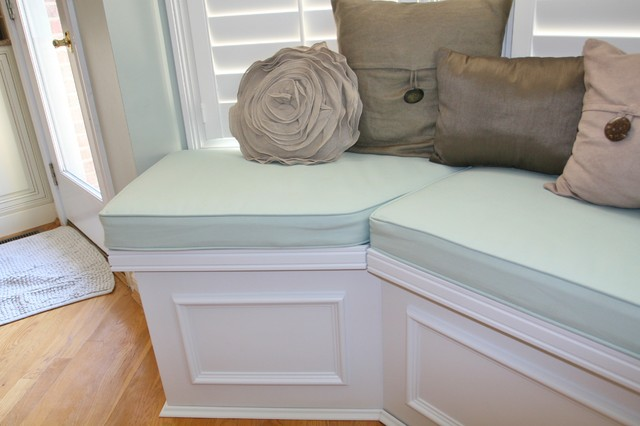 Huntington Builtin bench seat with lids for storage  Traditional  Dining Room  Cincinnati