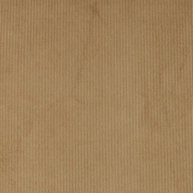 Tan Corduroy Thin Stripe Upholstery Velvet Fabric By The