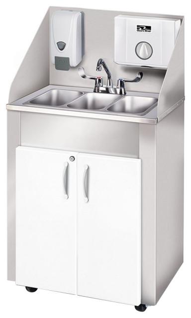 elite pro 3 portable hot water sink triple stainless dispensers white white