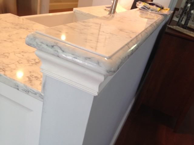 Ogee Edge on Viaterra Solid Surface  Transitional  Providence  by Design West