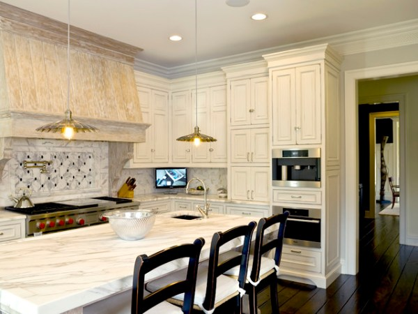rustic french country kitchen backsplash French Country - Rustic - Kitchen - Chicago - by Cynthia