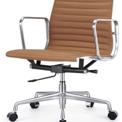 Contemporary Office Chairs Antique Chair Styles Ribbed Back Leather By Masters Brown Italian
