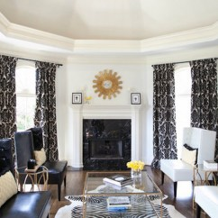 Modern Interior Design Living Room Black And White Tiled Go Luxurious With Gold Decor Schlage