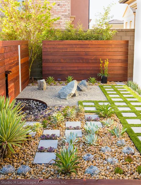 Modern Zen Garden Small Space Design Contemporain Jardin
