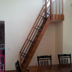 Houzz Dining Chairs Contemporary Sitting Chair Exercises Seniors Loft Ladder - Staircase Minneapolis By Twin City Scenic
