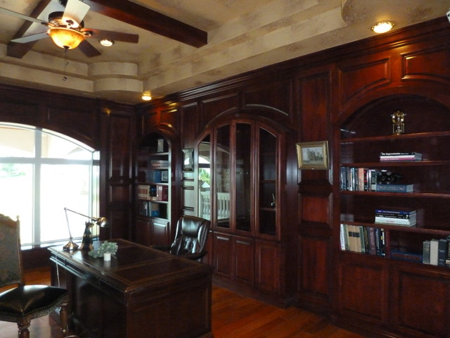 Librarystudy upstairs  Traditional  Home Office
