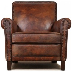 Leather Accent Chairs Desk With Chair Club Traditional Armchairs And