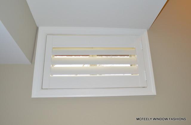 basement window plantation shutter mcfeely window fashions