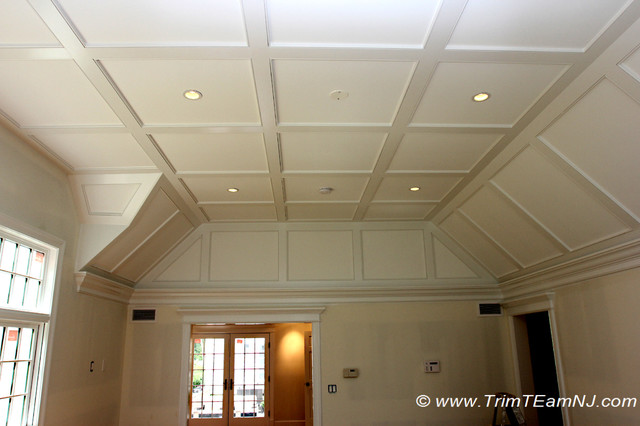 Coffered Ceilings and Beams  Traditional  Bedroom  by Trim Team NJ