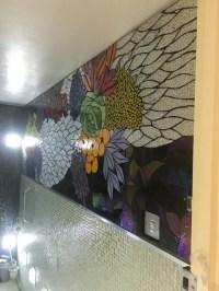 Mosaic Flower Mural - Contemporary - Bathroom - London ...