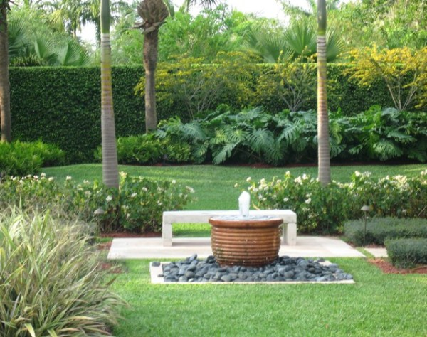 south florida garden. - contemporary