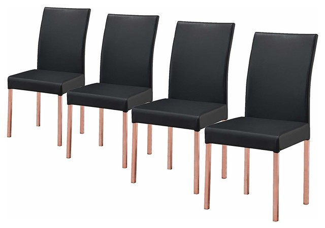 black parsons chair w h gunlocke co 2 jacqueline chairs set of 4 and rose copper contemporary dining by pilaster designs