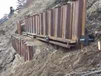 Shoring Retaining Wall / Helical Screw Piles - Exterior ...