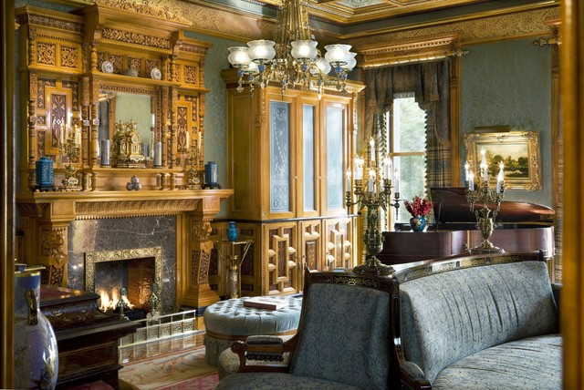1880s Brownstone  Traditional  Living Room  New York