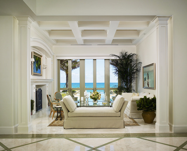 French Vanilla Flooring  Traditional  Living Room  Miami  by Marble of the World