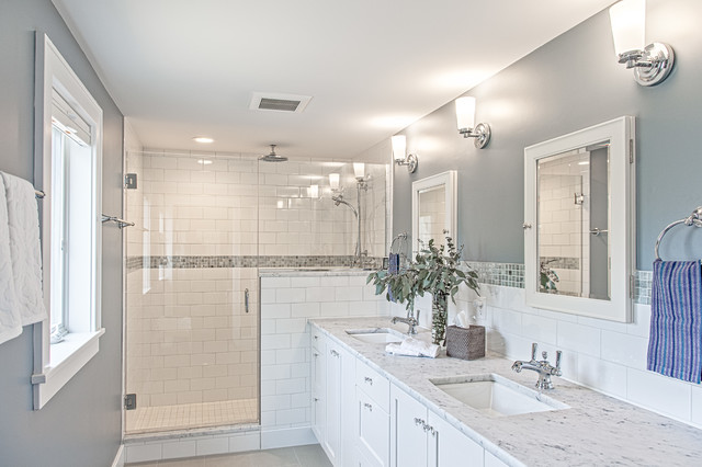Charming Cape Cod  Craftsman  Bathroom  Detroit  by Meadowlark DesignBuild