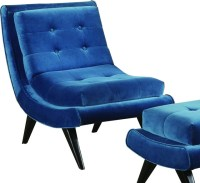 5th Avenue Accent Chair, Cerulean Blue - Midcentury ...