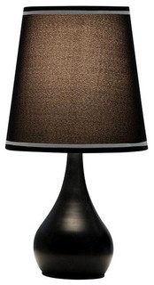 "15"" Modern Black Touch Lamp"