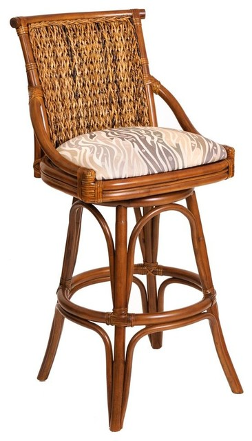 Shop Houzz Alexander Amp Sheridan Hand Woven Swivel Barstool Dodge Spruce Bar Stools And