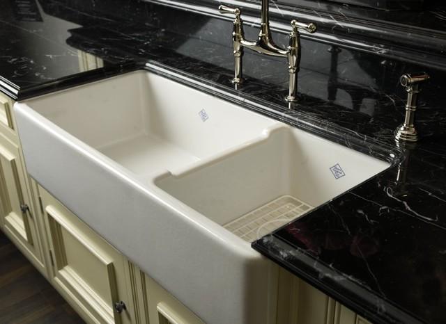 ROHL Shaws Original 1 12 Bowl Fireclay Apron Kitchen Sink