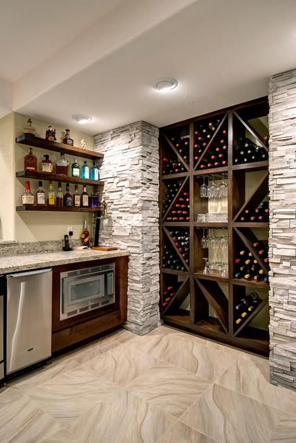 Basement Wine Storage  Transitional  Basement  Denver